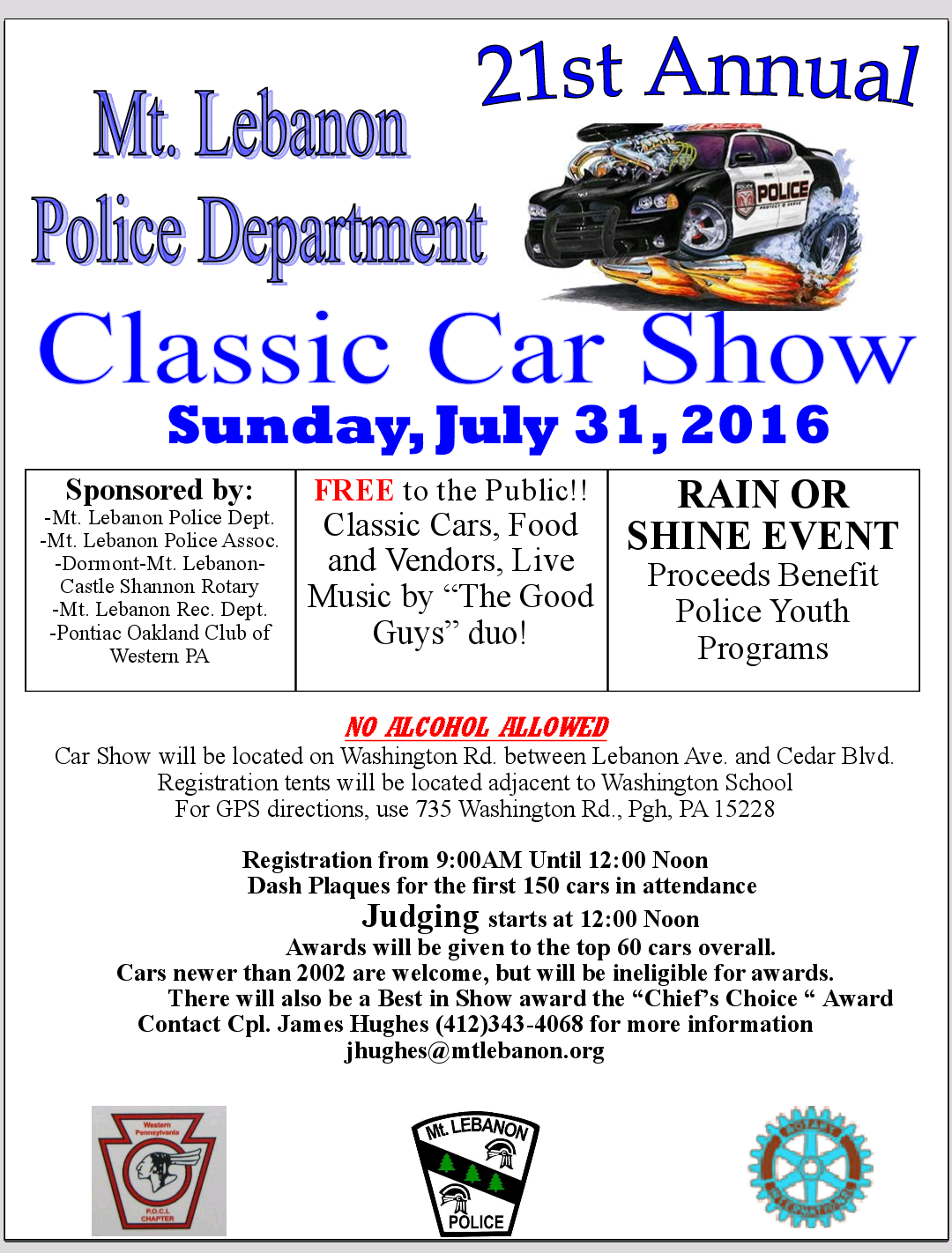 Mt. Lebanon Police 2016 MLPD Classic Car Show & Street Festival - Mt ...