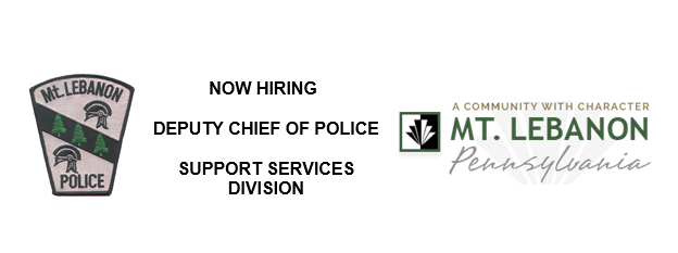 The Mt. Lebanon Police Department Is Currently Accepting Cover Letters And  Resumes For The Position Of Deputy Chief Of Police U2013 Support Services  Division.